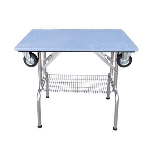Tavolo expo con carrello e piano in ABS