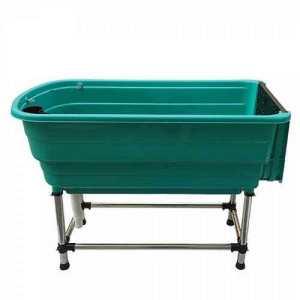 Vasca per lavaggio cani fissa con struttura in acciaio
