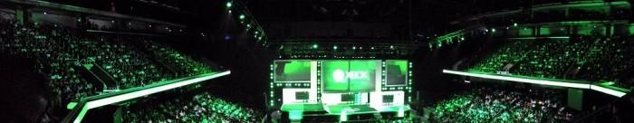 Vista panorâmica do palco da conferência da Microsoft na E3