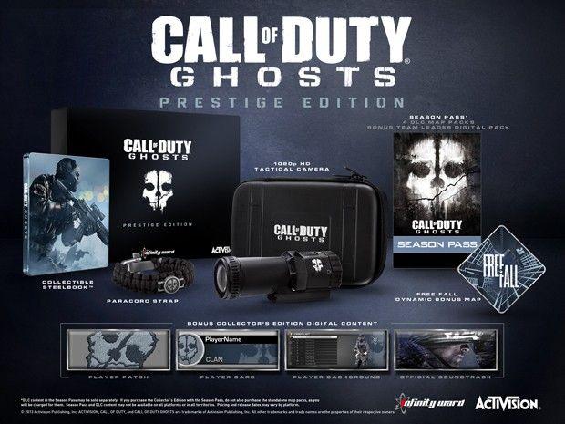 Edição de colecionador de 'Ghosts' virá com câmera de ação