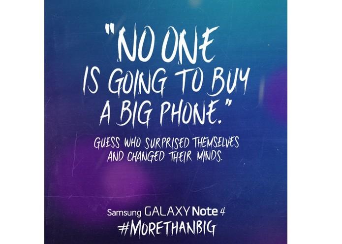 """Samsung relembra Steve Jobs em alfinetada ao iPhone 6 """"Ninguém nunca vai comprar um telefone grande"""", disse o executivo."""