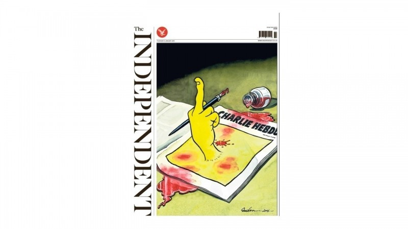 Capa do jornal britânico The Independent.