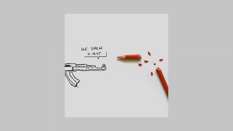 """""""Ele desenhou primeiro."""" Autor: Rafael Mantesso."""