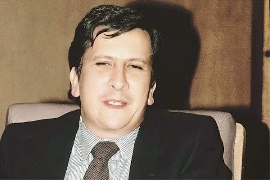 Rodrigo Lara Bonilla, Ministro da Justiça da Colômbia, assassinado no dia 30 de abril de 1984.