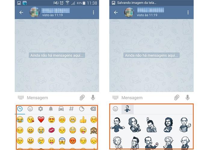 Envio de stickers e GIFs animados