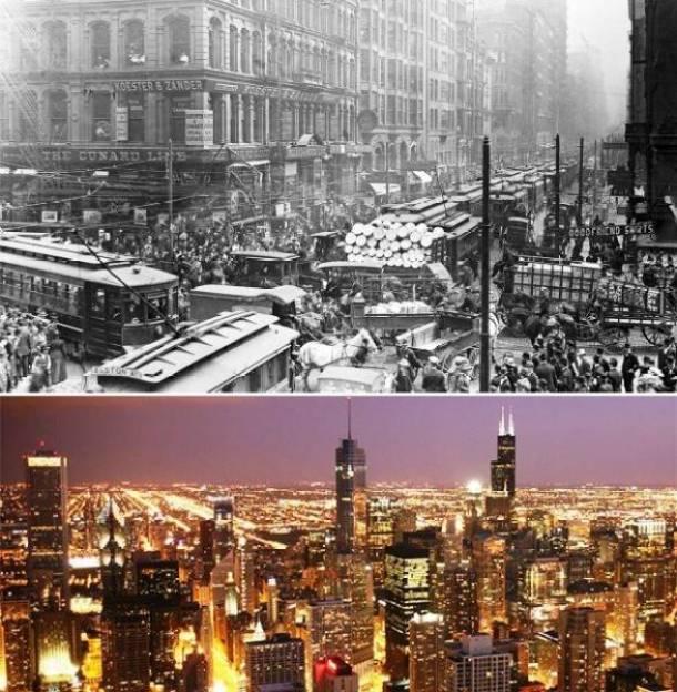 19. Chicago, EUA 1909 e atualmente