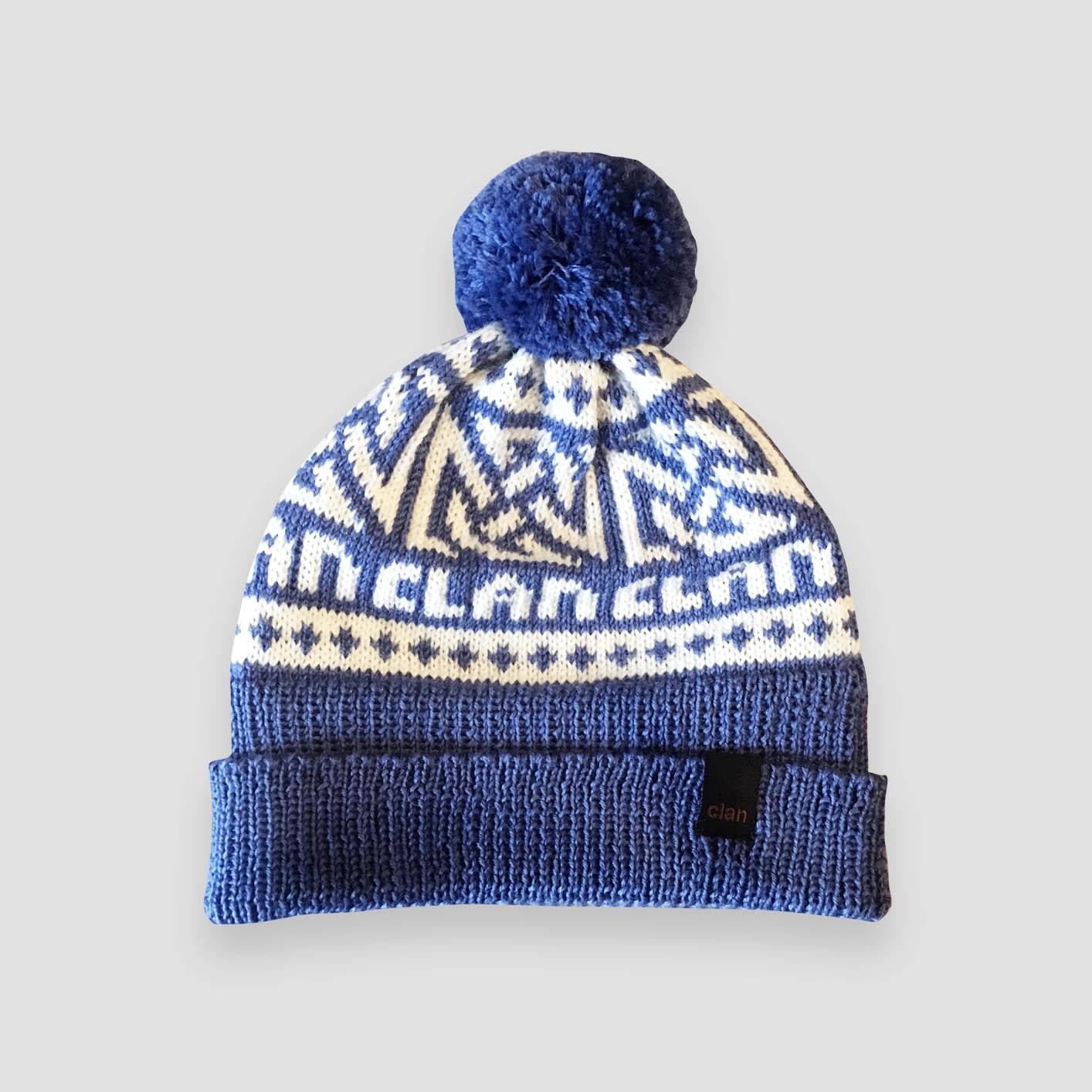 3bec04d4be949 Clan Merino Wool Light Blue Pompom Beanie