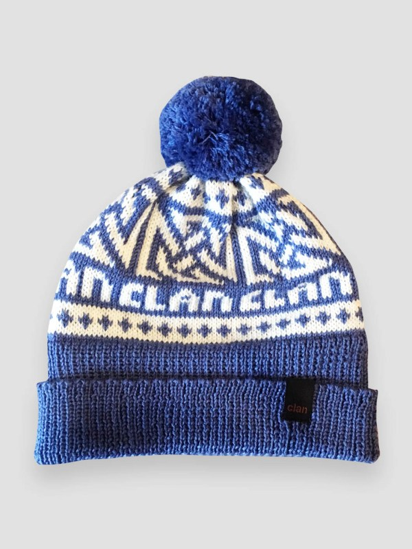 e3e849895c2 Clan Merino Wool Light Blue Pompom Beanie