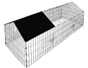 Boîtier de lapin Exécuter Cage avec 1.80m de protection solaire Cochon d'Inde Pig Pen Clapier Cage