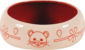 Zolux Écuelle Céramique Anti-Renversement pour Rongeur Rouge 1 L