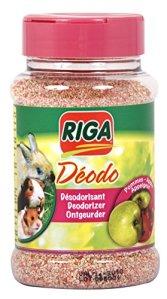 Riga Désodorisant Senteur Pomme pour Rongeur Flacon de 230 g – Lot de 2