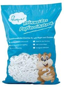flaper–purement Litière Papier Blanc en cellulose, pour tous les rongeurs comme Lapins, cochons d'Inde, Hamster et autres petits animaux, convient pour les personnes allergiques, poussière, ergiebig