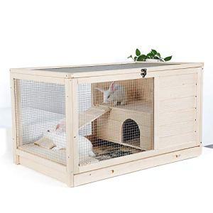 QNMM Foyers pour Les Animaux domestiques Jardin en Bois Cour arrière Lapin Petit Animal en Cage Petit Animal en Cage Salon intérieur