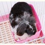 Boîte à litière de lapin MMBOX facile à nettoyer, pour apprendre à utiliser la toilette, pour petits animaux/lapins/cochons d'Inde/furets