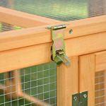 Cage enclos clapier XXL à Lapins lièvre cobaye | (L x l x H) : 200 x 123 x 53 cm – Pliable – Nature