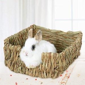 Gorgebuy Naturel Lit et nid d'herbe pour cochons d'Inde les chinchillas et les lapins