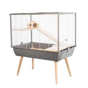 Cage Neo Silta Petit Rongeur L 77.5 X P 47.5 X H 87.5 Cm Grise
