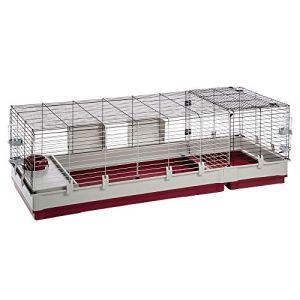 Ferplast Krolik 160 Cage Clapier, Kit de Montage, Extension Séparable grâce aux Grilles Métalliques, Accessoires Inclus pour Lapins, Cochons d'inde, 162 x 60 x 50 cm