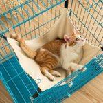 Uteruik Pet Cage Hamac, Facile à Fixer sur Une Cage pour Chat, Furet, Rat, Lapin, Chiens de Petite Taille ou de Tout Autre Animal Domestique