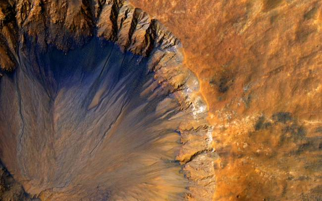 New Mars' Crater