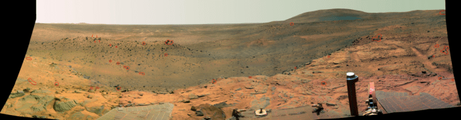 view from rover on Mars