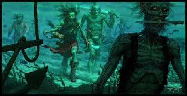 Zombies in water