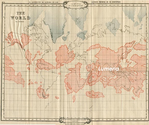 Map of Lemuria's possible location before the shift in Earth's land masses.Map of Lemuria superimposed over the modern continents from Scott-Elliott's The Story of Atlantis and Lost Lemuria. Map of Lemuria superimposed over the modern continents from Scott-Elliott's The Story of Atlantis and Lost Lemuria.