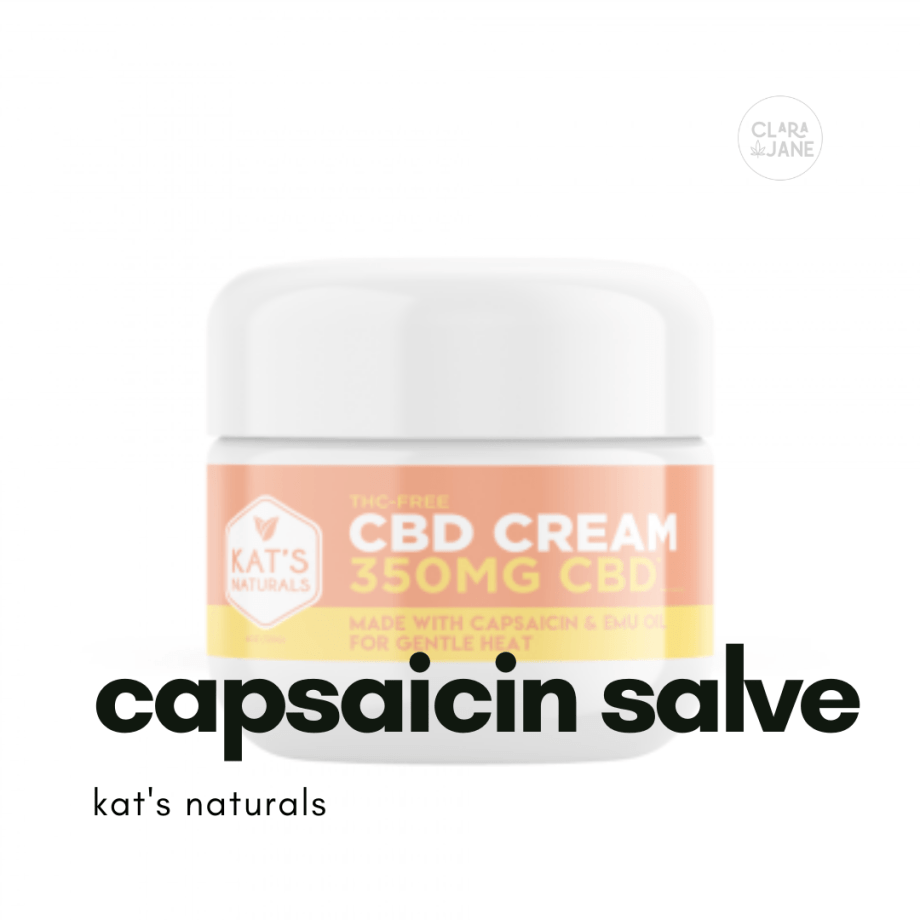 CBD topical salve with capsaicin for pain relief