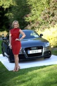 Audi brand ambassador, Kathryn Thomas, launching Future Now