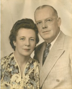 Kathleen with her first husband, Roxie Rollins.
