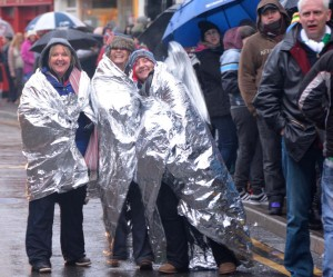 Some came well prepared to face the long, cold night in the queue for Garth Brooks tickets.