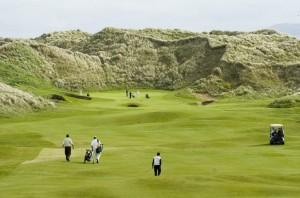 The first fairway at Doonbeg Golf Club. Photograph by John Kelly.