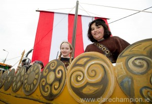 Plain sailing for some at the St Patrick's Day Parade in Doonbeg. Photograph by John Kelly.