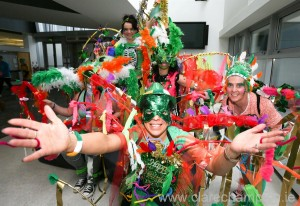 Beverly Tierney and the Zumba Crew with Ennis Street Festival at the St Patrick's Day Parade in Ennis.  Photograph by Arthur Ellis.