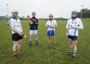Brian Fahy, Conor Henry, Dermot O' Brien and Darren Chaplin during a training session, Photograph by John Kelly.