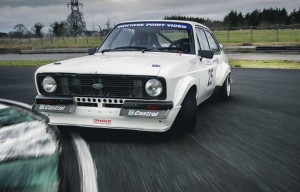 Simon McKinley competing in his Mk II Escort rally car.