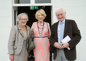 Mrs Sabina Higgins with Rita Murnane and her brother, Tony Mulvey Photograph by John Kelly.