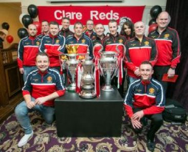 At the Manchester United supporters event at The Auburn Lodge. Photograph by Arthur Ellis.