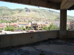 Destroyed buildings, view from sniper's nest, Mostar