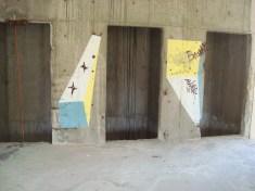 Lift shafts, sniper's nest, Mostar