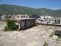 Rooftop, sniper's nest, Mostar