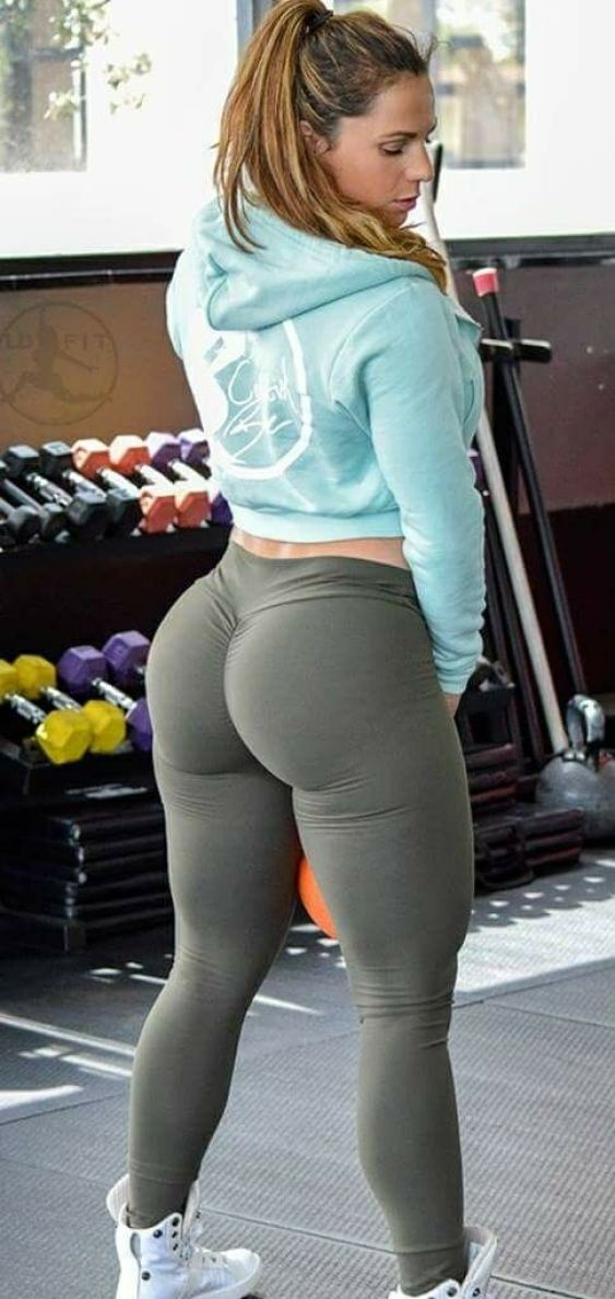 Fit girls in yoga pants