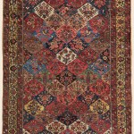 Bakhtiari Garden Compartment Carpet Central Persian Antique