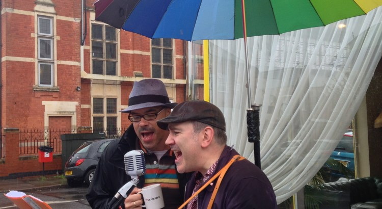 The Lonesome Pines busking at ArtBeat 2015