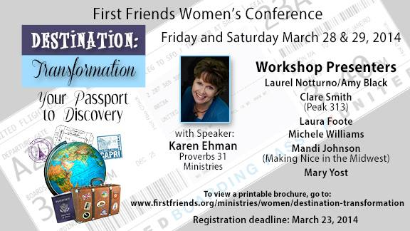 First Friends Women Conference Pamphlet