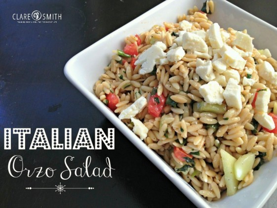 Italian Orzo Salad: www.claresmith.me