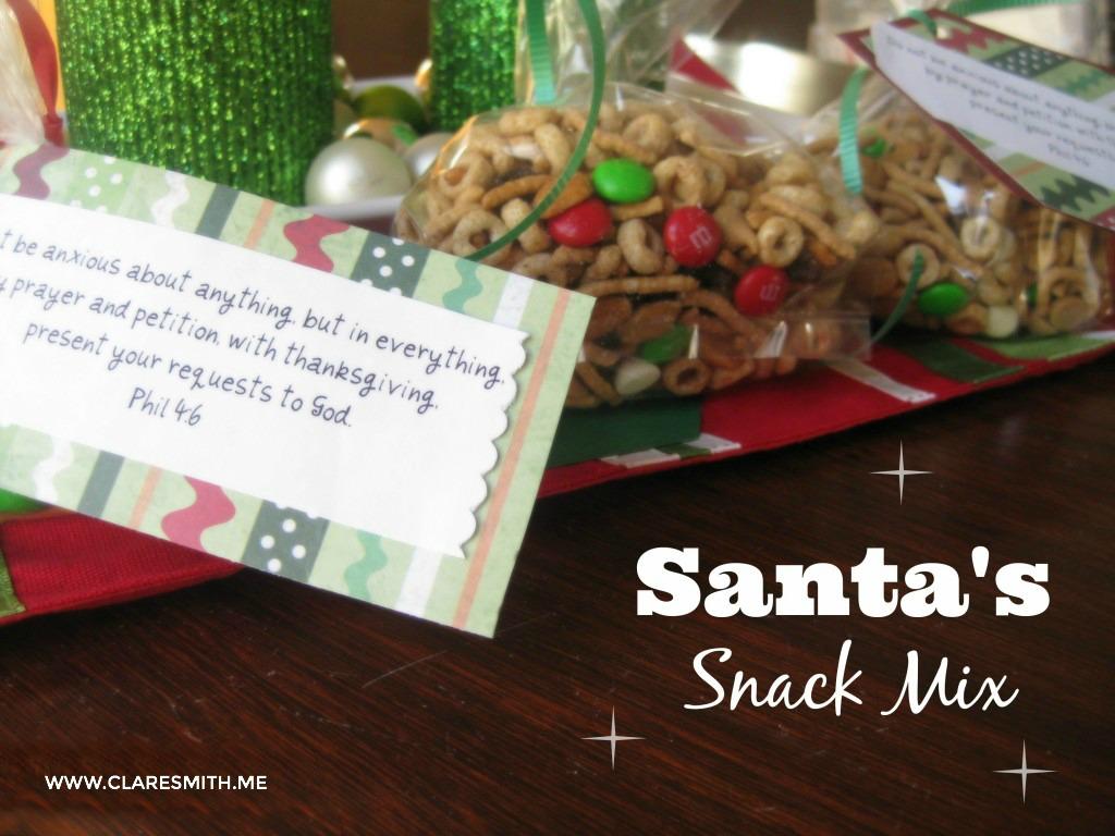 Recipe: Santa's Snack Mix