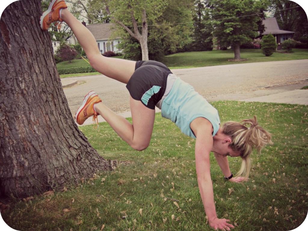 New Move Monday: Donkey Kicks & Sprints on a Tree (or wall)