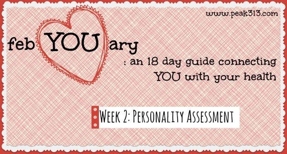 febYOUary Personality Assessment Week 2: www.claresmith.me