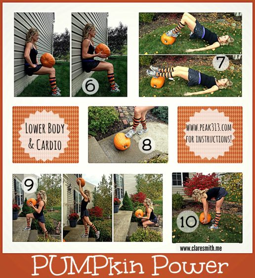Lower Body : Pumpkin Workout (Full routine on www.claresmith.me)